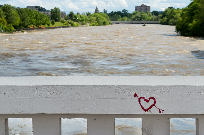 cupid's arrow, Main Street Bridge, Cambridge Ontario
