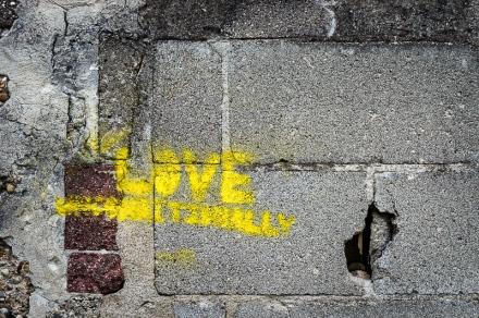 Love unconditionally stencil, Brantford Ontario